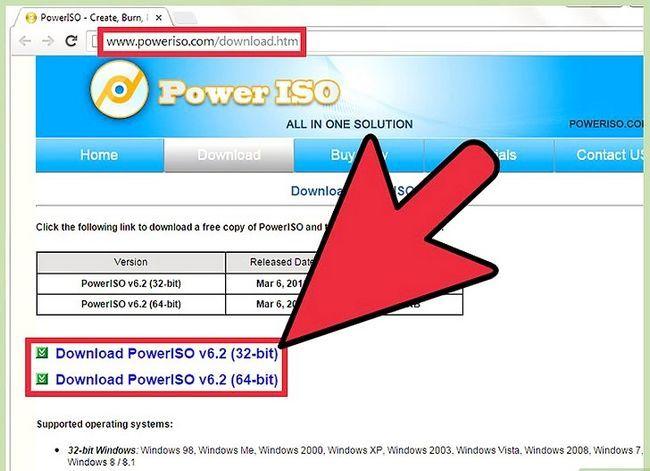Billedbetegnelse Konverter BIN-filer ved hjælp af Power ISO Step 1