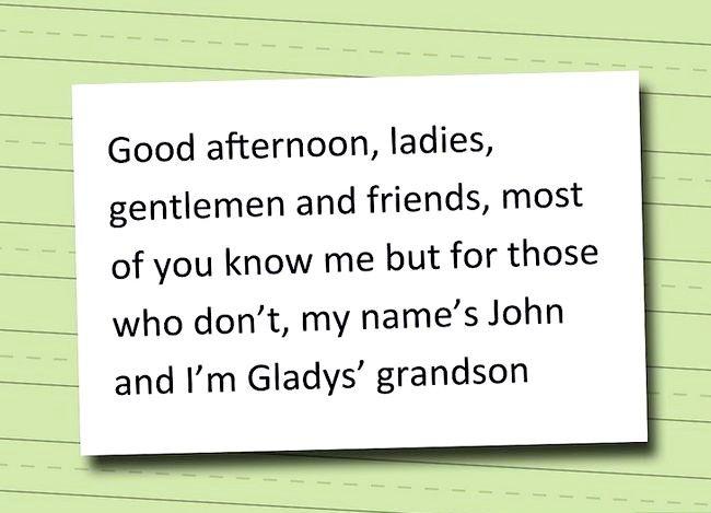 Hvordan man skriver en begravelseskrav for en bedstefar