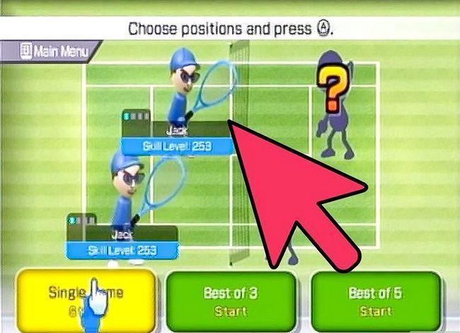Billedets titel Gør en hurtig bold i tennis i Wii Sports Trin 1