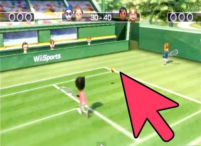 Billede med titlen Gør en hurtig bold i tennis i Wii Sports Trin 3