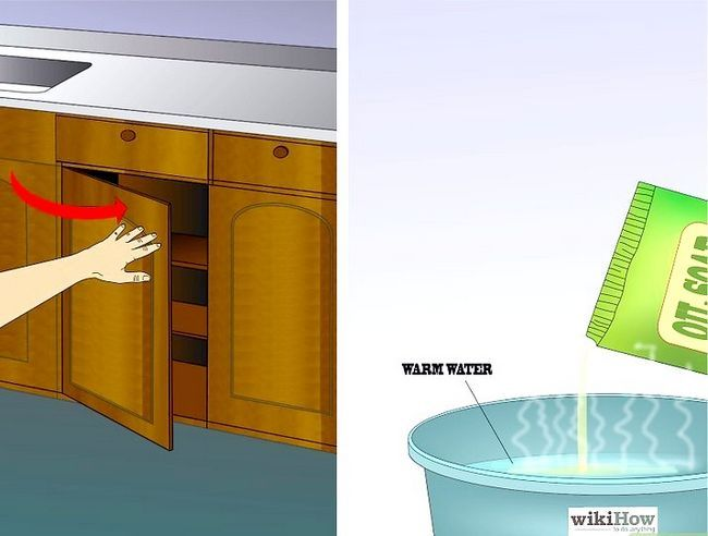 Billedbetegnelse Clean Kitchen Cabinets Trin 3