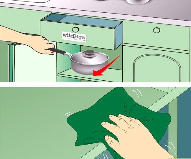 Billedbetegnelse Clean Kitchen Cabinets Trin 10