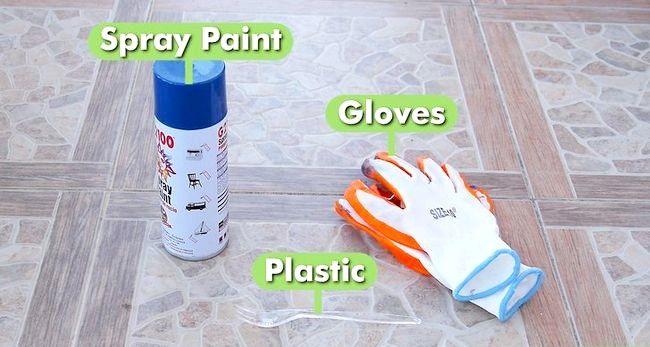 Billed betegnet Spray Paint Plastic Trin 6
