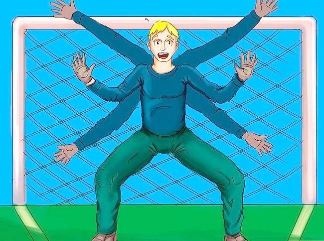 Billede med titlen Vær frygtelig som fodboldmålmand Trin 1