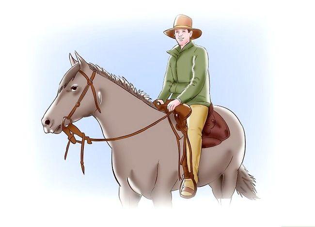Billede med titlen Post, mens du travler på et hest Trin 5