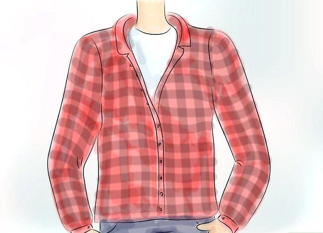 Billedbetegnelse Bær en Flannel T-shirt Trin 1