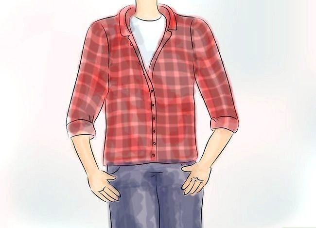 Billedets titel Bær en Flannel T-shirt Trin 2