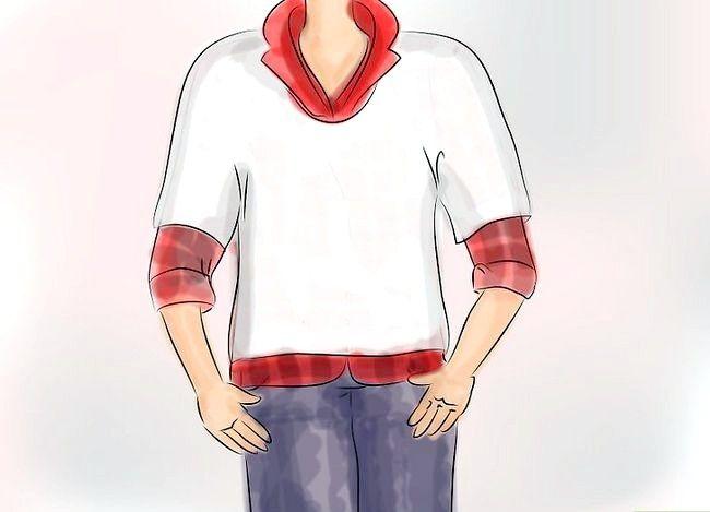 Billedets titel Bær en Flannel T-shirt Trin 3