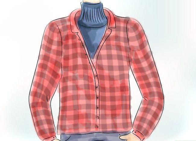 Billedets titel Bær en flannel T-shirt Trin 4