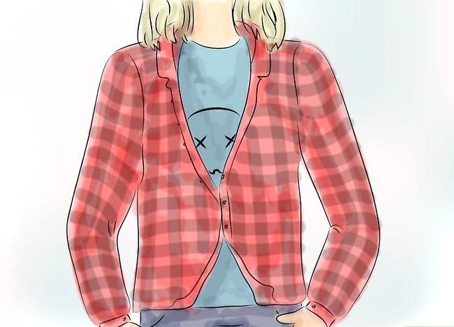 Billedbetegnelse Bær en Flannel T-shirt Trin 5