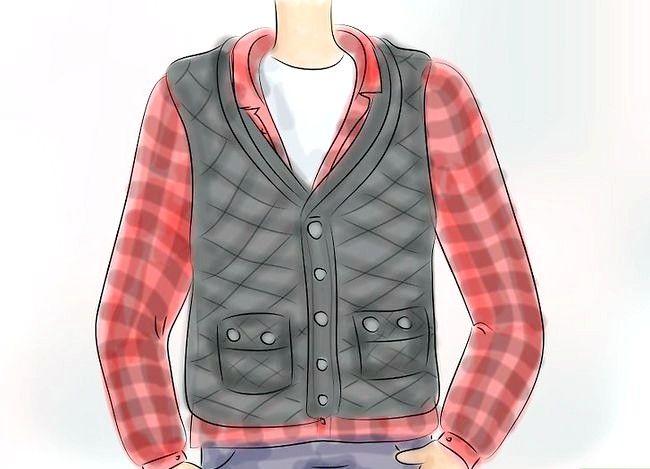 Billedbetegnelse Bær en Flannel T-shirt Trin 6