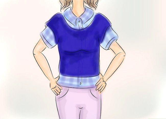 Billedbetegnelse Bær en Flannel T-shirt Trin 8