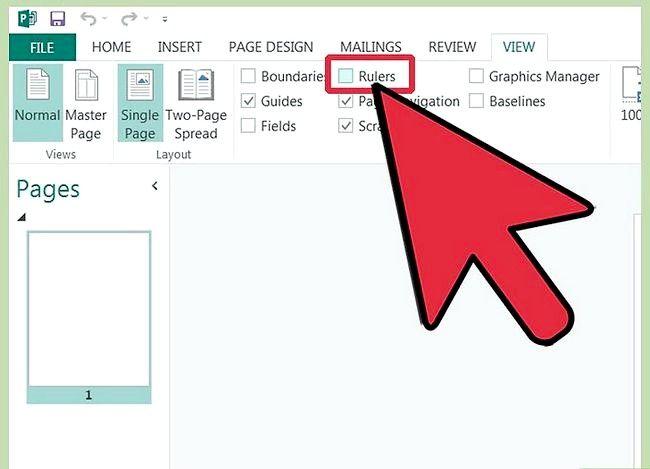 Sådan bruger du reglerne i Microsoft Publisher